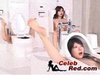 Japanerinnen als Toilette benutzt