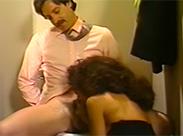 Vintage Sex auf Klo